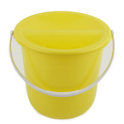 Yellow Labels /& Ties 6 Charity Fundraising Money Collection Buckets with Lids
