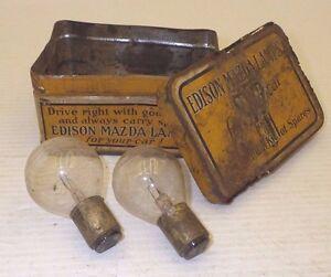 Edison Mazda Lamps 1920's | Vintage