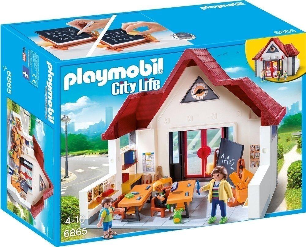 Schule Playmovil Des Spielzeugs Bau Kind Mädchen