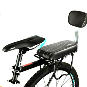 Bicycle-Comfort-Gel-Rear-Bike-Seat-Pad-Cushion-Cover-Back-Rest-Saddle-Black