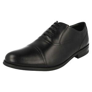 cordones Brint Cap negro con hombre Clarks formales zapatos para qBxZXO