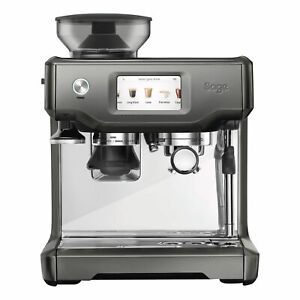 Sage-Espresso-Maschine-The-Barista-Touch-Siebtraeger-Kaffee-Smoked-Hickory