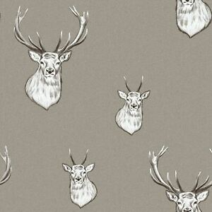 Lansfield-Cerf-Papier-Peint-Champignon-muriva-165512-Metallique