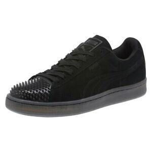 PUMA-Suede-Leather-Jelly-Ladies-Trainers-Black-Suede-Womens-Shoes