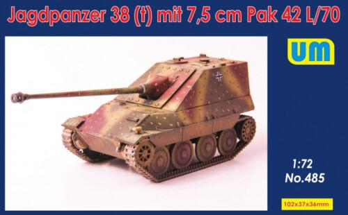 T Unimodel 1//72 Jagdpanzer 38 mit 7.5CM Pak 42 L//70 #485