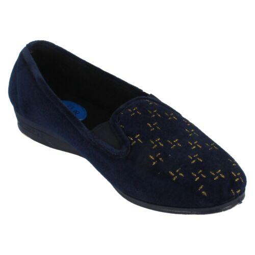 LADIES BLUE LADYLOVE  SLIPPERS