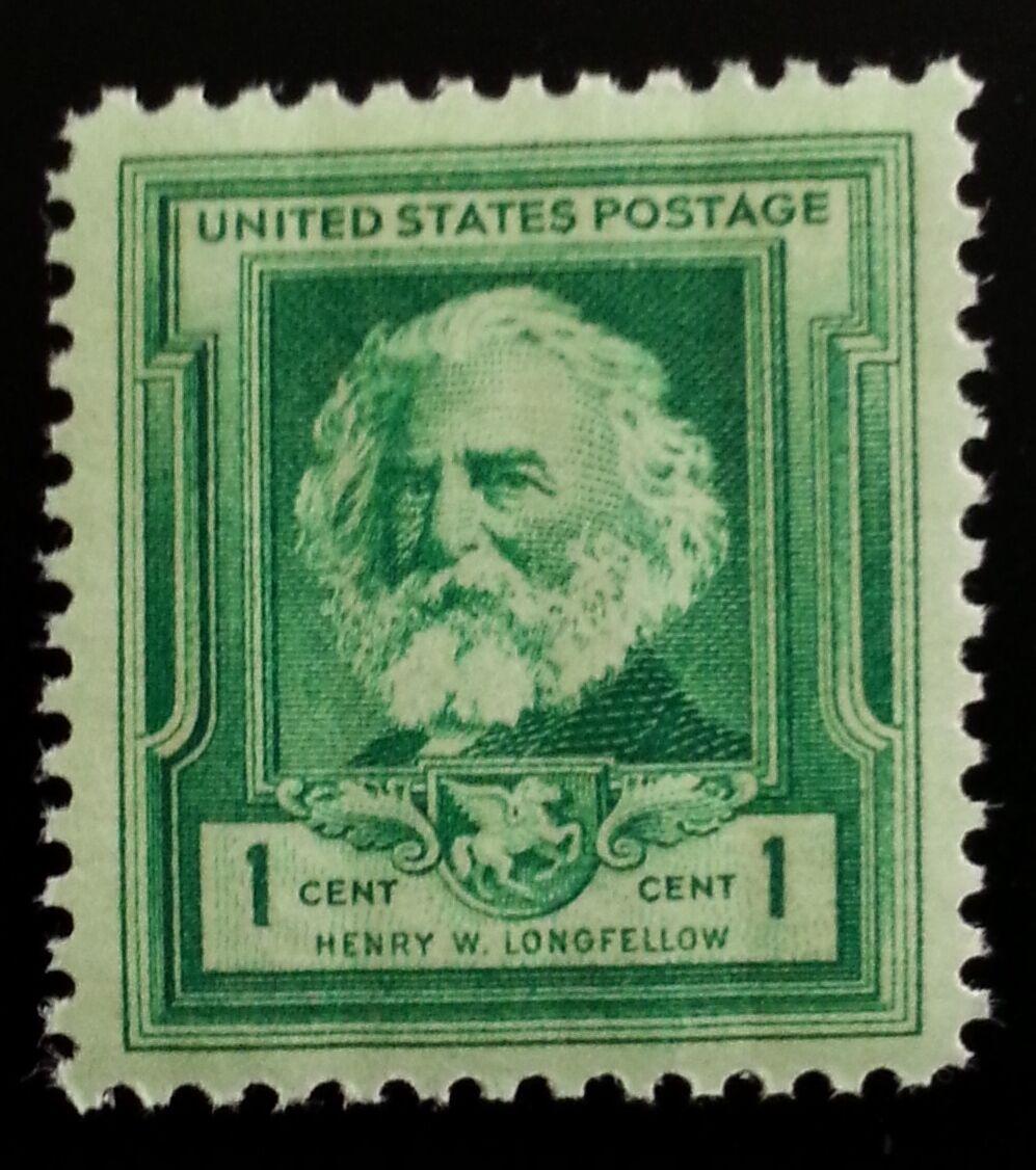 1940 1c Henry W. Longfellow, Poet Scott 864 Mint F/VF N