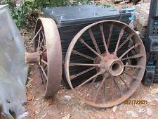 Rare Original Vintage Gas Prairie Tractor Steam Engine Geneva Iron Wheels 1898