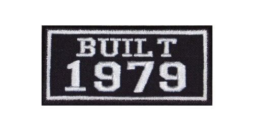 Built 1979 Biker Patch year of Birth construction number MOTORCYCLE MC BADGE