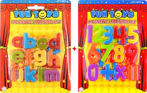52er Set Magnetzahlen kleine Magnetbuchstaben Alphabet Zeichen Schule Lernen