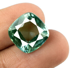 Cushion 11.95 Ct Green Sapphire Gemstone Natural Certified F4179 Wholesale Price