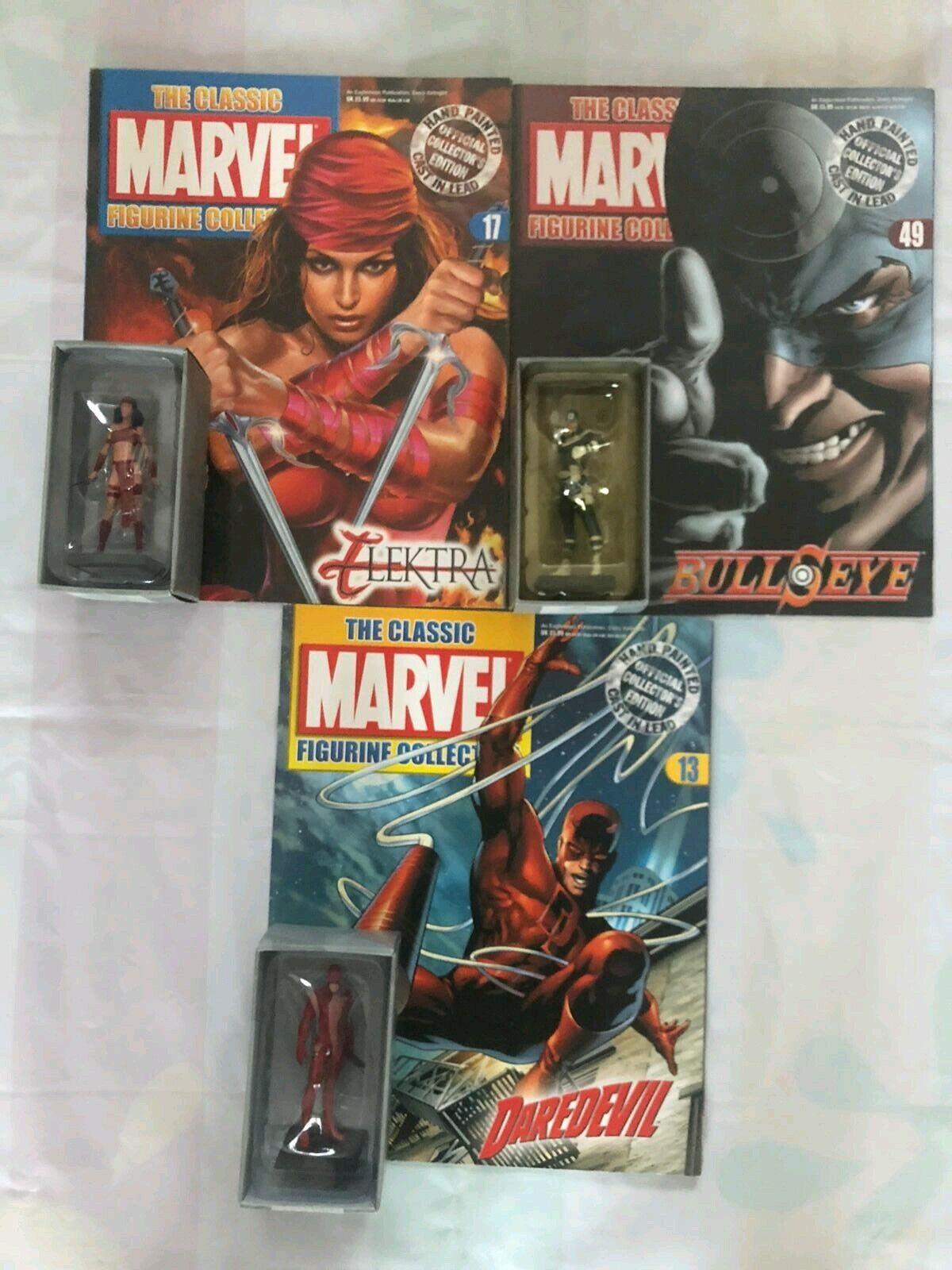 Eaglemoss Elektra Daredevil Bullseye Classic Marvel Figurine Collection+Mag