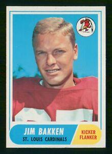 JIM BAKKEN 1968 TOPPS 68 NO 8 VGEX  37075