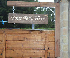 Personalised SIGN ONLY Wooden Hanging Swinging Outside House Sign Advertising