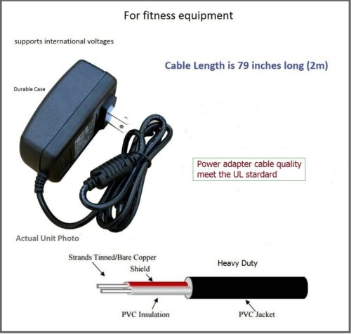 AC Adapter Power Supply for Life Fitness C1  C1-XX00-0103 Lifecycle Upright Bike