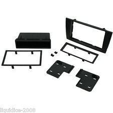 CT24JG04 JAGUAR X TYPE 2002 to 2009 BLACK SINGLE OR DOUBLE DIN FASCIA ADAPTER