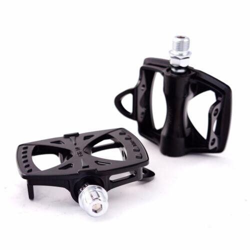MKS GR-10 Alloy Racing Track Fixed Gear Wide platform Bike Pedal Black Silver