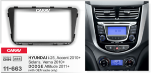 Car Stereo Radio Fascia Panel Trim Kit 2Din Frame for HYUNDAI i-25 Accent 11-663