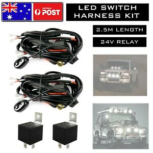 Details zu 2x LED Wiring Loom Harness Kit One-To-Two Universal Driving on