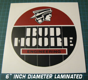 BUD-MOORE-ENGINEERING-6-034-ROUND-VINYL-DECAL-STICKER-SCCA-TRANS-AM-RACING-COUGAR