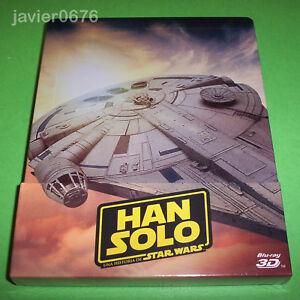 HAN-SOLO-UNA-HISTORIA-DE-STAR-WARS-BLU-RAY-BLU-RAY-3D-NUEVO-STEELBOOK-3-DISCOS