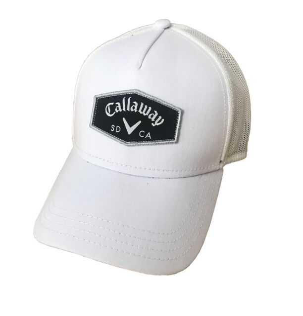 4ae8da0a446 Callaway Golf 2018 Adjustable Trucker Hat White  White 2day Delivery ...