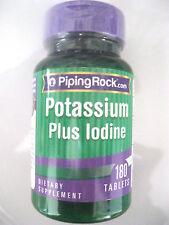 Potassium Plus Iodine Iodide 180 Vegetarian Tablets Pills Thyroid Support Aid