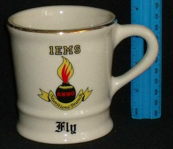 Ammo Munitions Branch Mug Cup 1EMS Shaving Mil-Art China