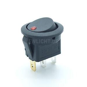 Kfz-Schalter-Rund-mit-rote-LED-beleuchtet-12V-16A-3-polig-2-Stellungen-E-A