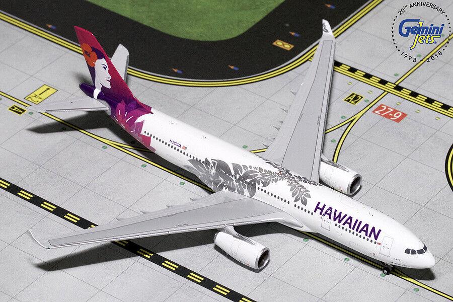 Gemini Jets Hawaiian Airlines Airbus A330-200 1 1 1 400 DIE-CAST gjhal 1787 En Stock 7d6fe2