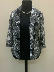 Redherring-Blazer-Jacket-Monochrome-Size-12-New-With-Tags-Black-White-Patterned