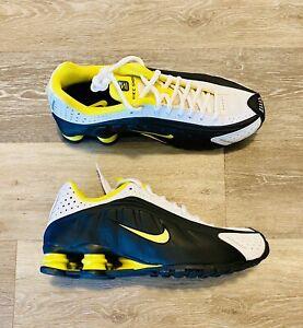 eficientemente Incesante Orador  Nike Shox R4 Black Dynamic Yellow White 104265-048 Men's 9, Women's 10.5 |  eBay