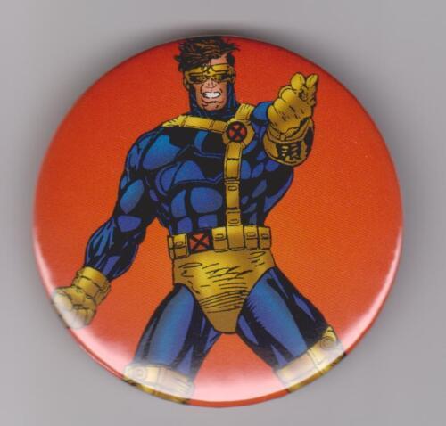 """1995 Fleer Fox Network X-Men Cyclops 2 1//4/"""" Pin Back"""
