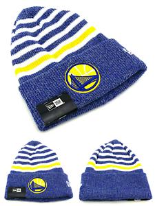 60f0d346ecd55d Golden State Warriors New Era Beanie Toque Cuffed Stripe Chill Blue ...