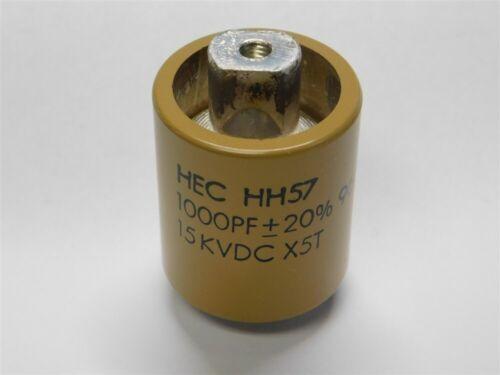 HEC HH57Y102KA 1000pF 15KVDC 20/% X5T HV Barrel Ceramic Capacitors NEW