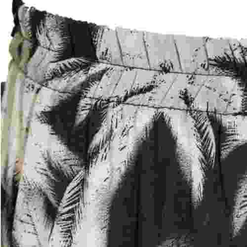 Ladies Black /& White Leaf Printed Elastic Waist Culottes Soft Flowing Fabric