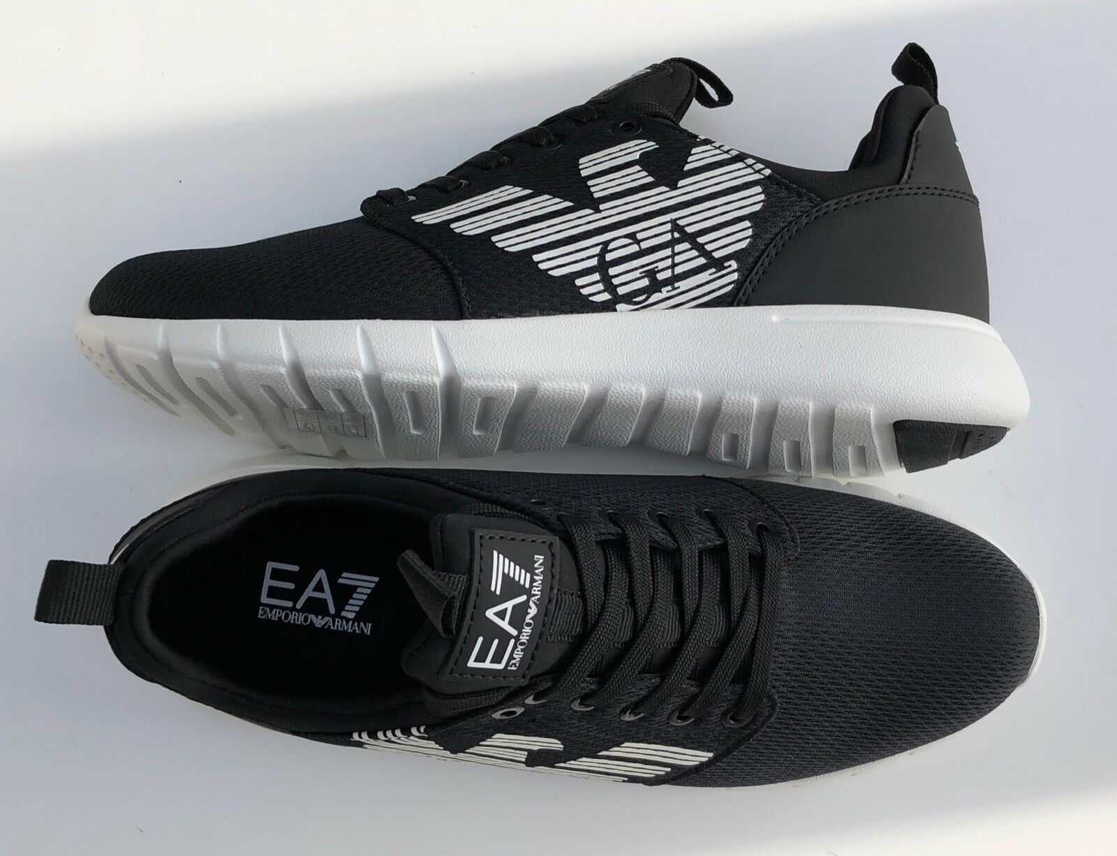 EMPIRO ARMANI EA7 Treni  neri scarpe da ginnastica Scarpe Grande Logo UK 5.5 -11.5 BNWT  BOX  più preferenziale