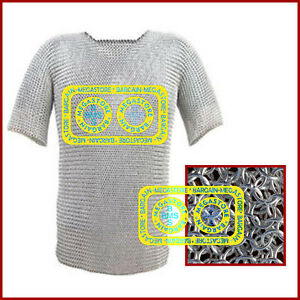 Aluminium Chainmail Shirt Butted Chainmail Haubergeon Medieval Costumes Armour