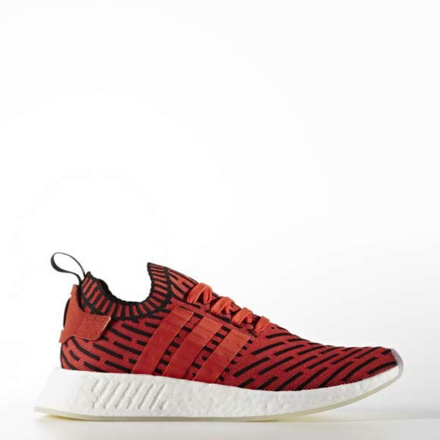 [Adidas] BB2910 Originals NMD R2 PK Primeknit Running shoes Red