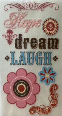"""STARBURST HOPE Rub-Ons MME•Hope•Dream•Laugh•Flower•Corner •Phrases•Shapes 3""""x6"""""""