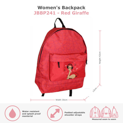 Ladies Girls Large Backpack Rucksack Shoulder Handbag Fashion School Canvas Bag