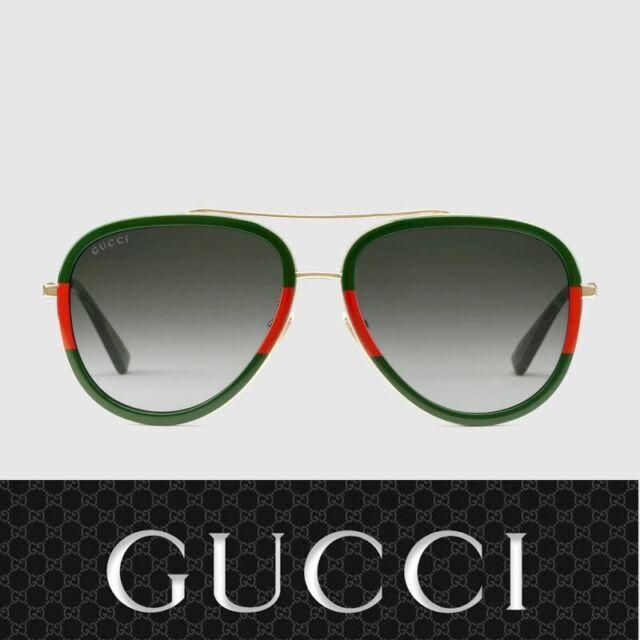 1e60953b08e New Authentic Gucci Sunglasses GG0062S 003 Gold Green Gradient Lens 57mm