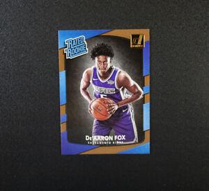 2017-18 Donruss Rated Rookie De'Aaron Fox Card 196 Sacramento Kings RC