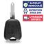 Coque-de-Cle-Plip-pour-Telecommande-PEUGEOT-206-CC-2-Boutons-Lame miniature 1