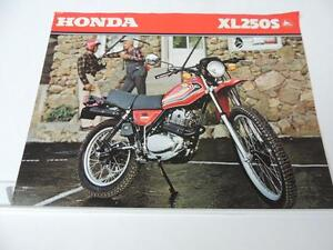 NOS 1979 Honda XL250S XL250 Dealer Brochure L827