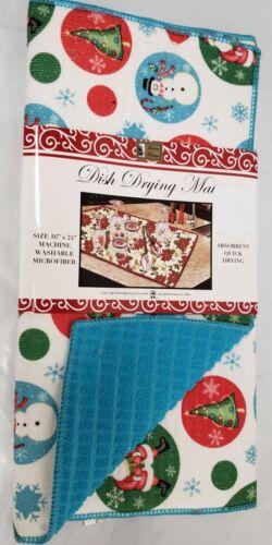 "16/""x24/"" blue,BH WINTER CHRISTMAS THEME CIRCLES Microfiber Quick Drying Mat"