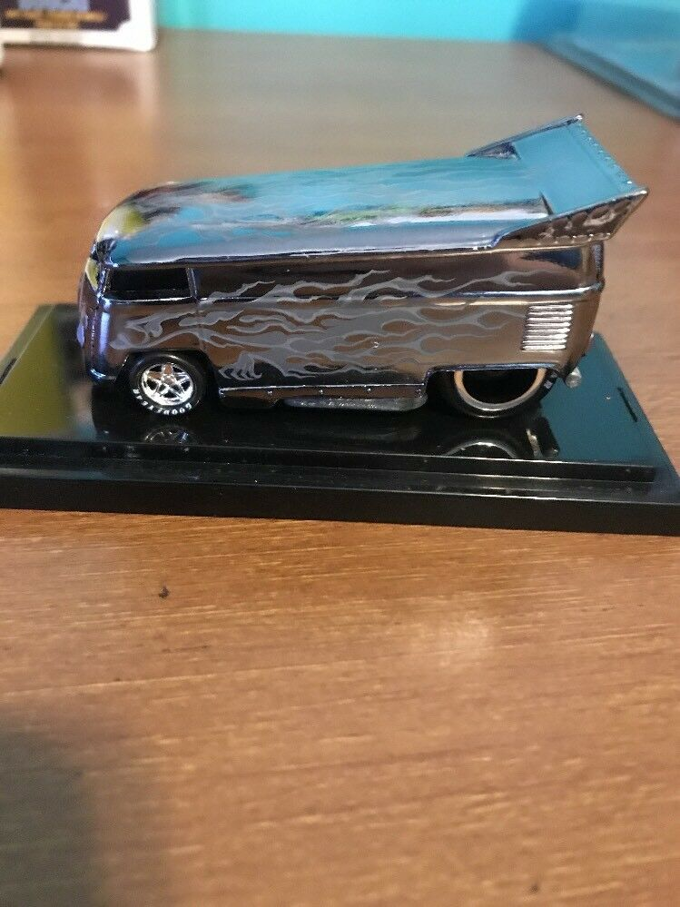 Hot Wheels 2010 Liberty Promotions Promotions Promotions Halloween Ghost Flames VW DRAG BUS 4d3094