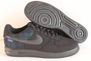 NIKE AIR FORCE 1 LOW ID PENDLETON BLACK/BLUE SZ 10.5