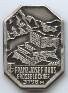 A773 Alte Plakette Franz-josefhaus Großglockner 3798 M Stockabzeichen Kärnten Die Neueste Mode