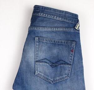 Replay Herren Gerades Bein Slim Jeans Größe W31 L30 AMZ1125